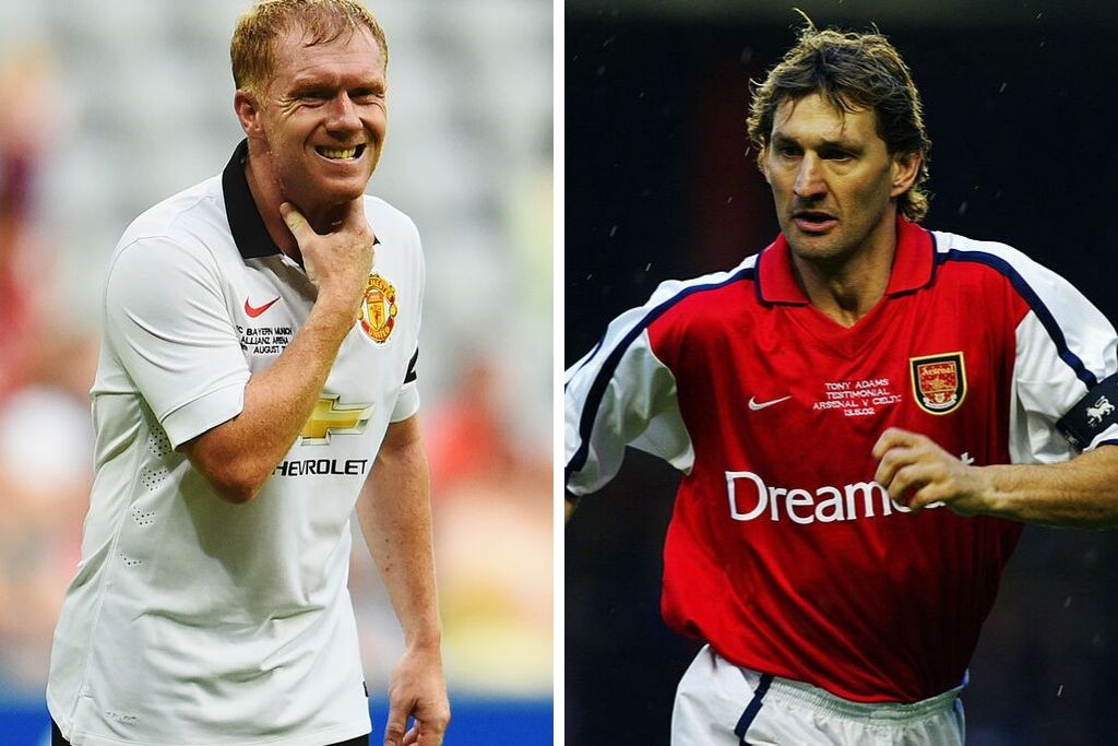 Paul Scholes og Tony Adams