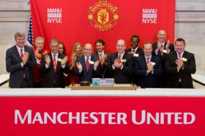 Manchester United Executives Ring Opening Bell At New York Stock Exchange