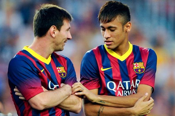 Neymar, Lionel Messi, Barcelona
