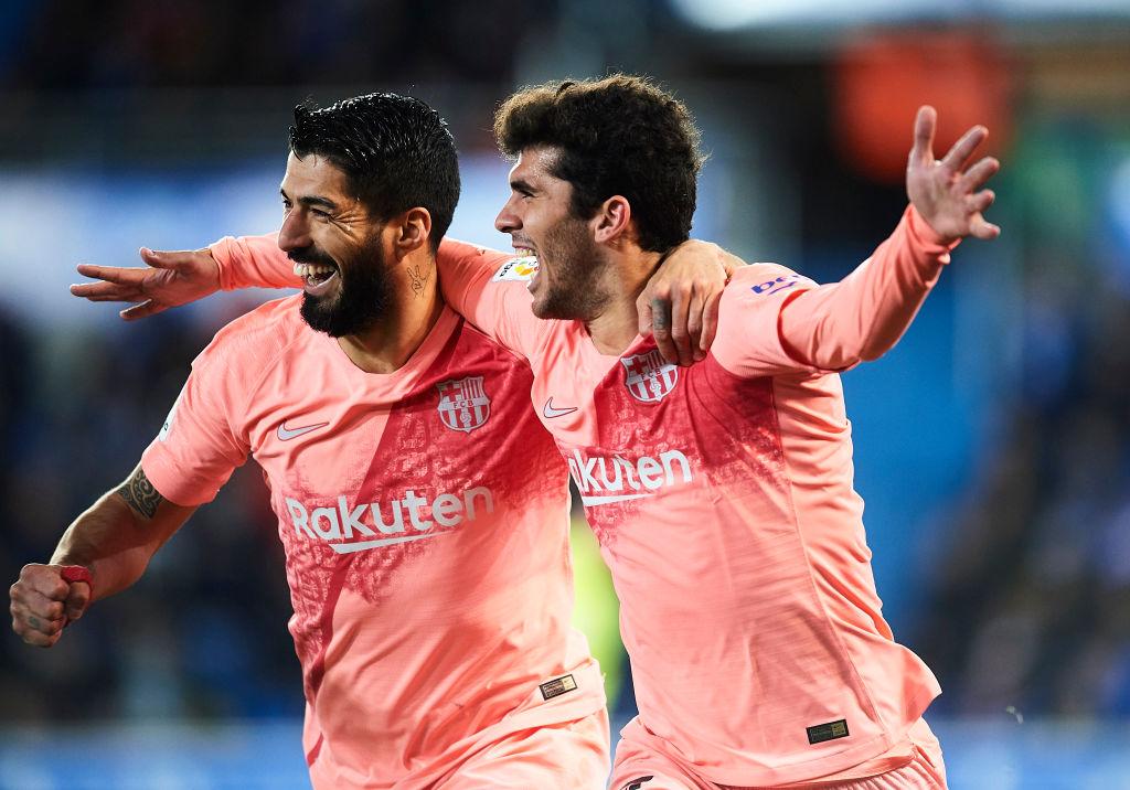 Carles Aleñá og Luis Suarez, Barcelona