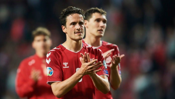 Thomas Delaney og Andreas Christensen for Danmark
