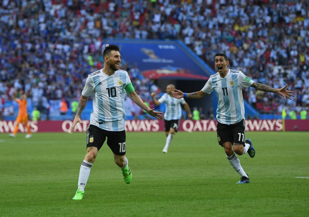 Lionel Messi og Angel Di Maria, Argentina