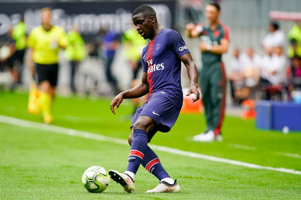 Stanley Nsoki i aktion for PSG