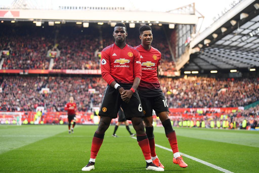 Paul Pogba og Marcus Rashford, Manchester United