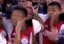 David Neres får en lussing af Dusan Tadic