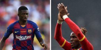 Ousmane Dembele, Barcelona, og Wilfried Zaha, Crystal Palace