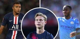 Kylian Mbappé, PSG, Frenkie de Jong, Barcelona, Raheem Sterling, Manchester City