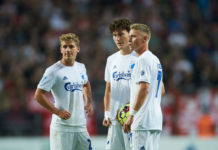 Carlo Holse, Viktor Fischer og Jonas Wind fra FC København FCK