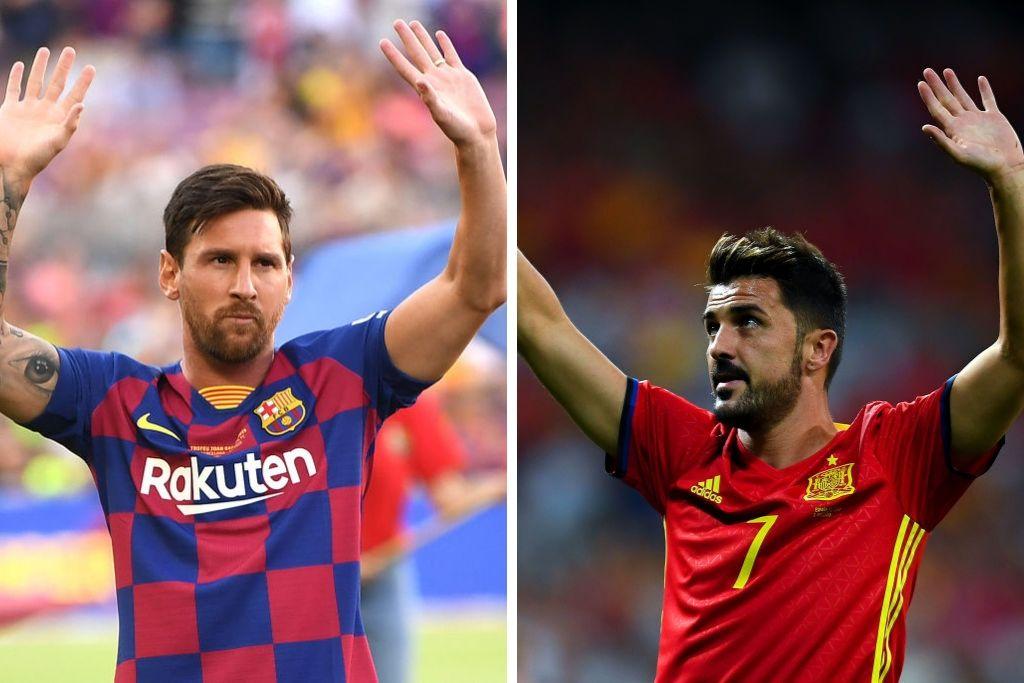 Lionel Messi, Barcelona, og David Villa