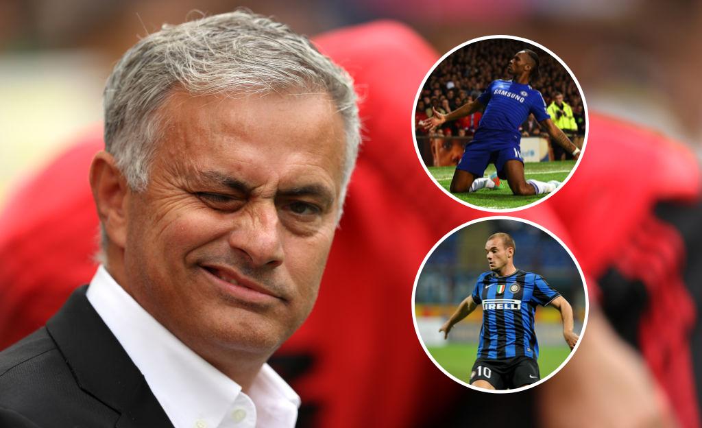 José Mourinho Didier Drogba Wesley Sneijder