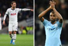 Christian Eriksen, Tottenham, og Fernandinho, Manchester City