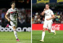 Alexandre Pato og Gareth Bale
