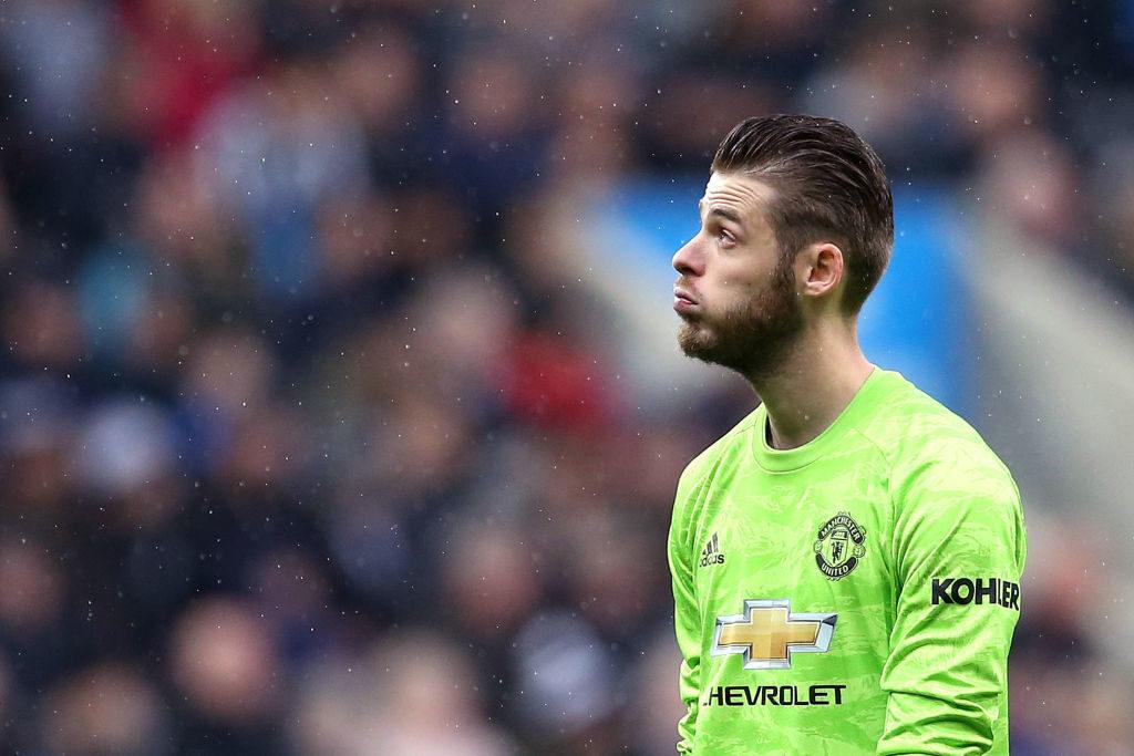 David De Gea ser misfornøjet ud efter Newcastle-scoring