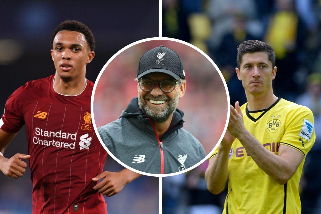 Trent Alexander-Arnold, Liverpool FC, Robert Lewandowski, Borussia Dortmund, Jürgen Klopp