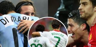 Di Maria Deco Pique Messi Ronaldo