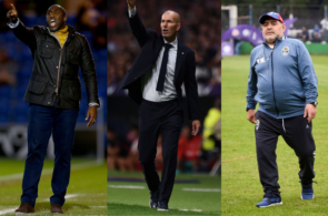 Sol Campbell Zinedine Zidane Diego Maradona