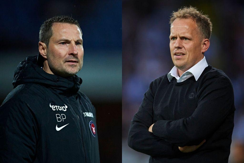 Brian Priske, FC Midtjylland og Jakob Michelsen, OB