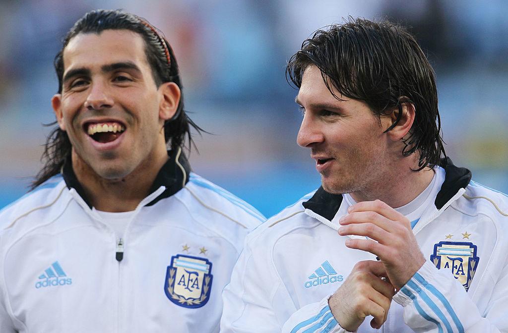Carlos Tevez Lionel Messi