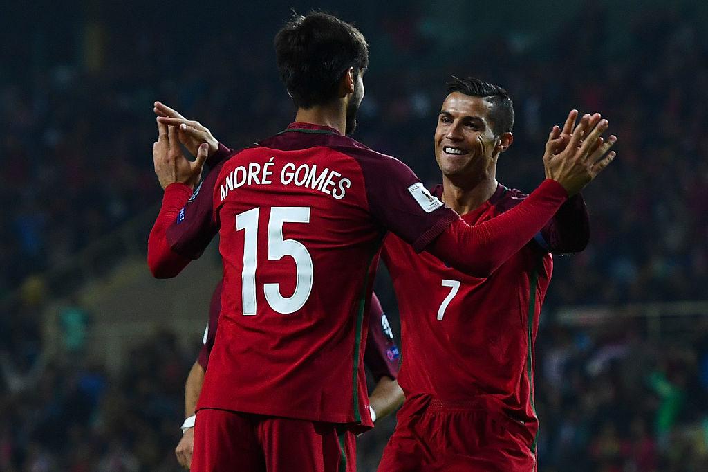 Andre Gomes Cristiano Ronaldo