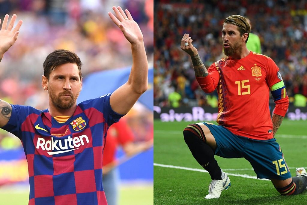 Lionel Messi og Sergio Ramos