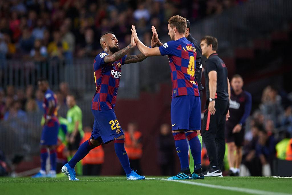 Arturo Vidal, Ivan Rakitic, FC Barcelona