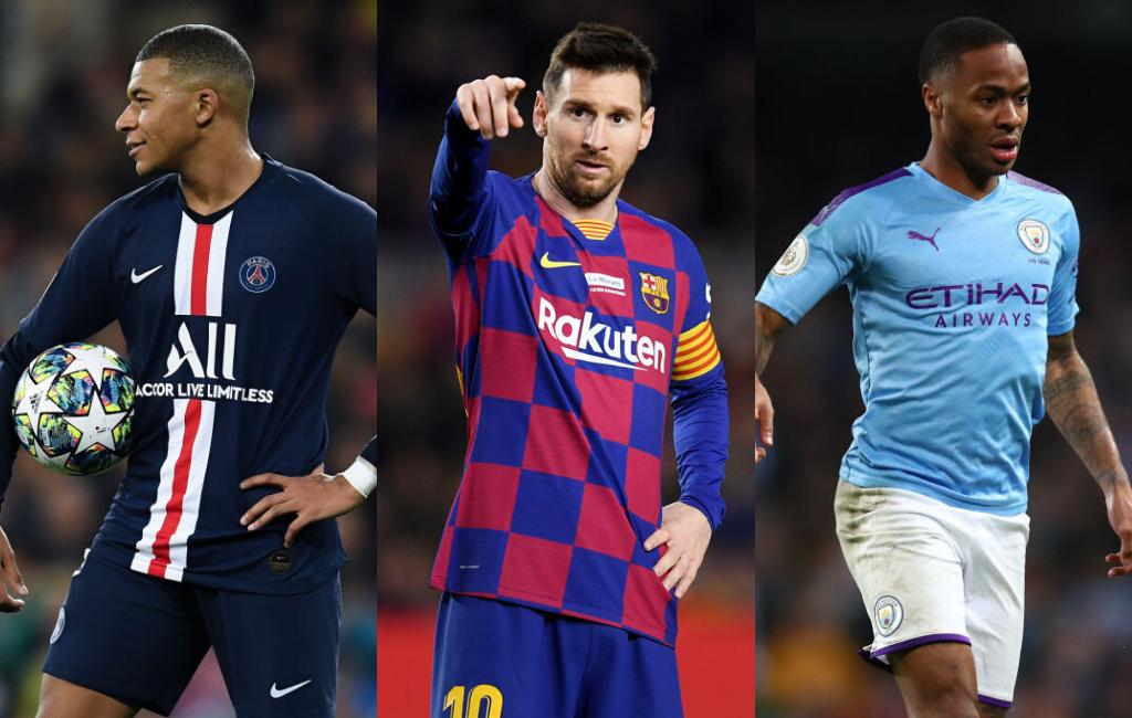 Kylian Mbappe Lionel Messi Raheem Sterling
