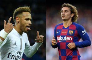 Neymar og Antoine Griezmann