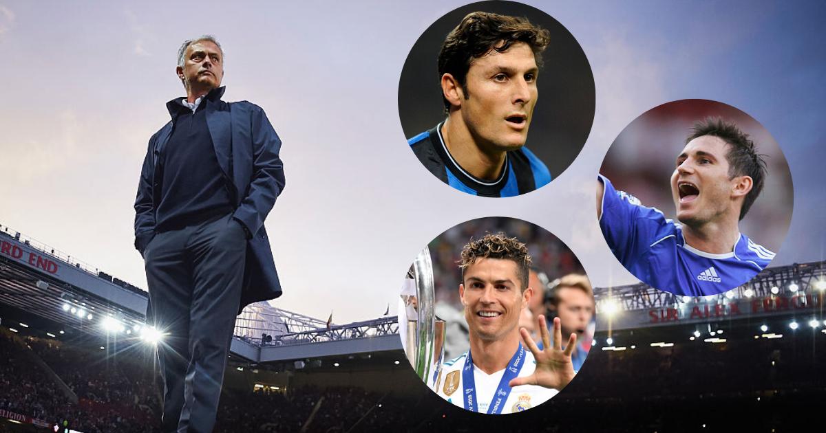 Jose Mourinho Javier Zanetti Cristiano Ronaldo Frank Lampard