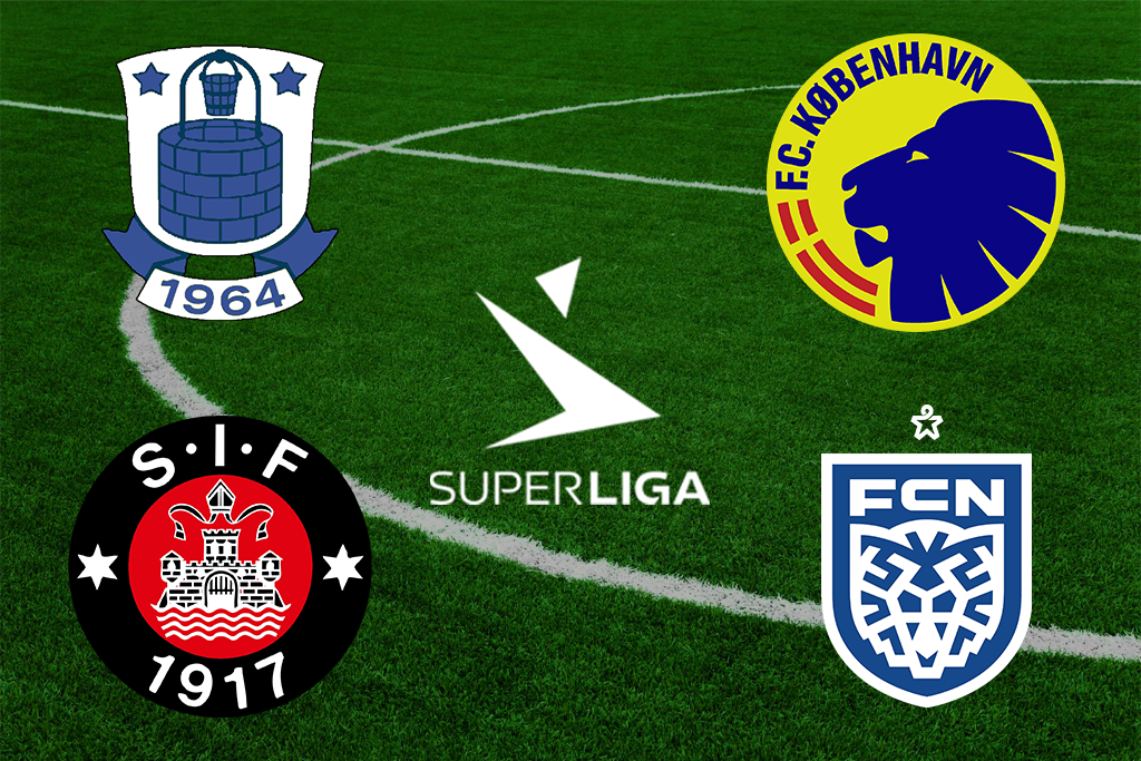 Superliga-klubberne i rivalens farver