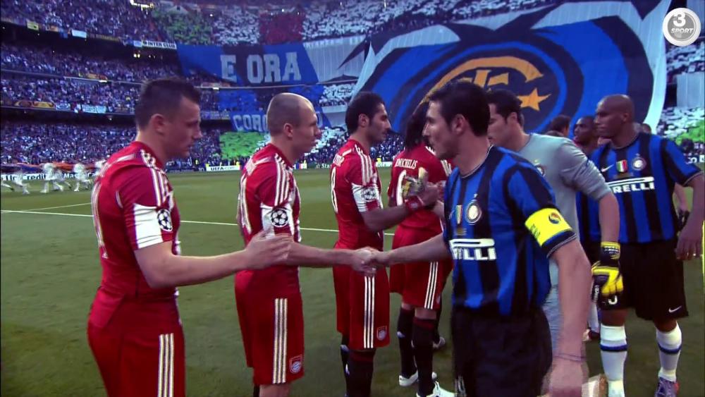 Bayern München og Inter i Champions League-finalen 2001