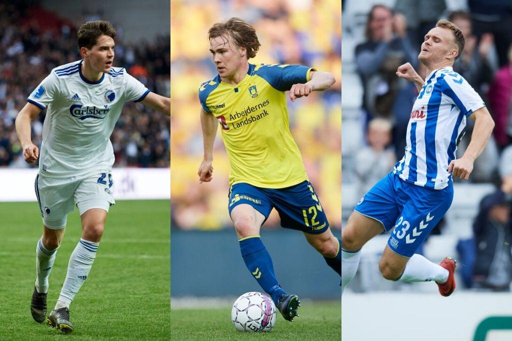 Robert Skov, FCK, Simon Tibbling, Brøndby, Troels Kløve, OB