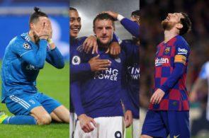 Vardy, Messi, Ronaldo