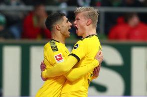 Achraf Hakimi og Erling Håland, Dortmund
