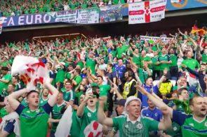 Nordirske fans synger Will Grigg