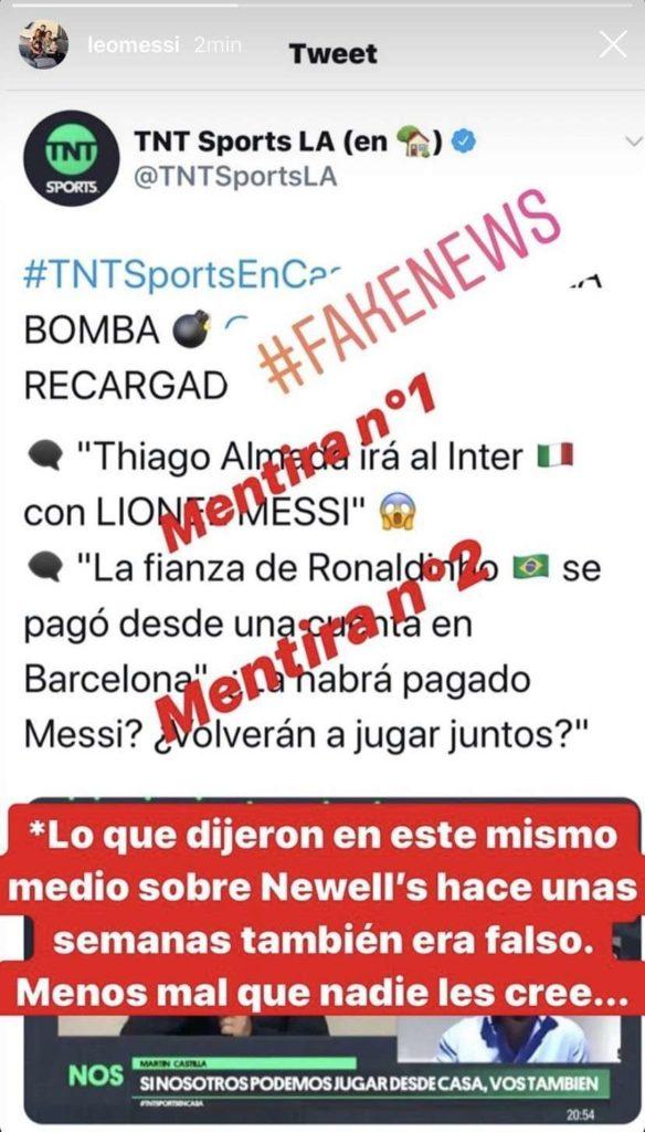 Lionel Messi, Instagram