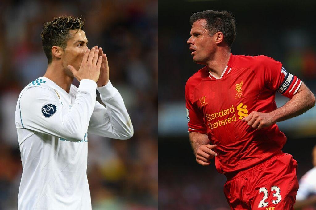Cristiano Ronaldo og Jamie Carragher