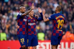 Arturo Vidal, Arthur og Martin Braithwaite, FC Barcelona