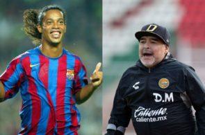 Ronaldinho og Diego Maradona