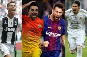 Messi, Ronaldo, Ramos, Xavi