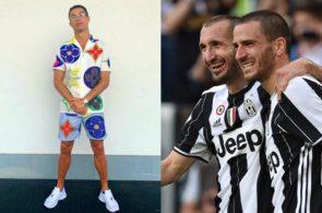 Cristiano Ronaldo, Leonardo Bonucci og Giorgio Chiellini, Juventus