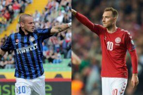 Wesley Sneijder og Christian Eriksen, Inter