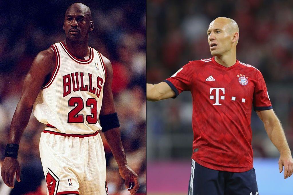 Michael Jordan og Arjen Robben