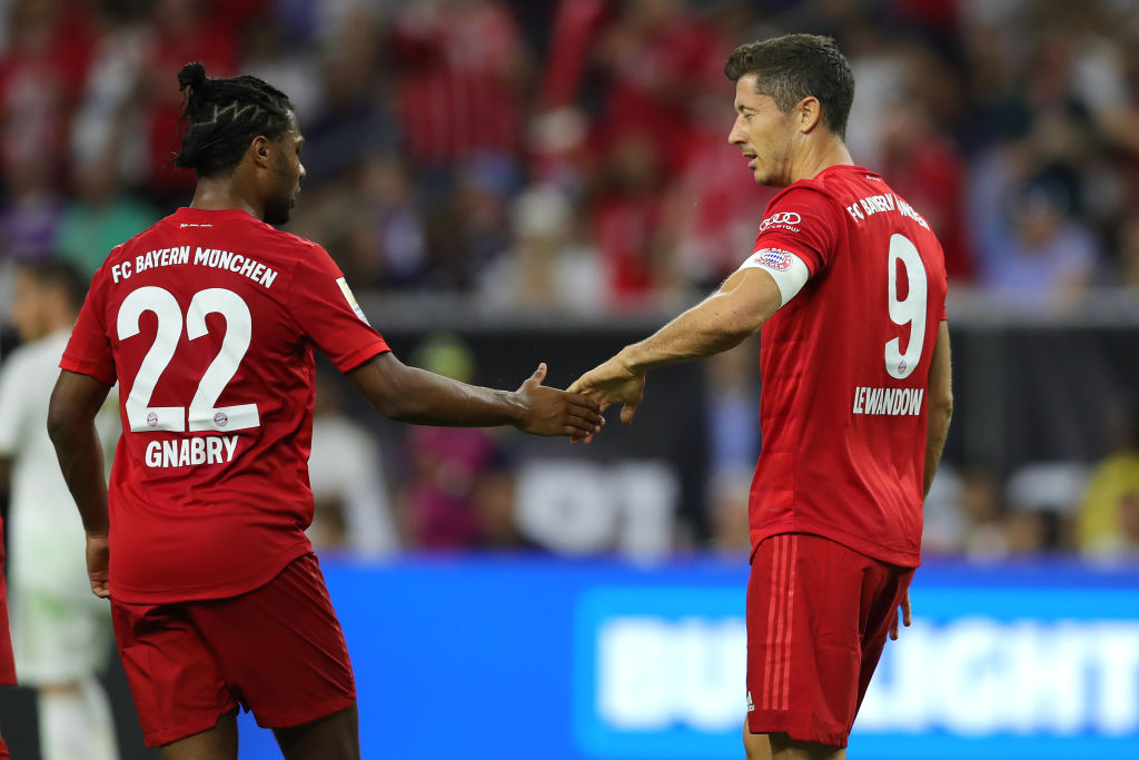 Serge Gnabry og Robert Lewandowski, Bayern München
