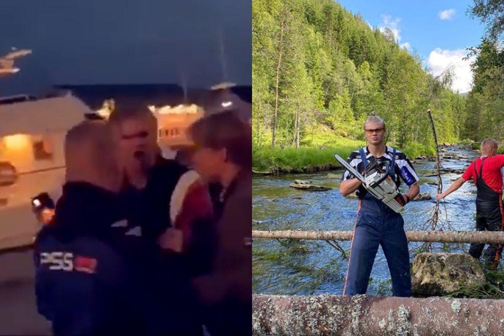 Erling Håland i byen og på skovtur