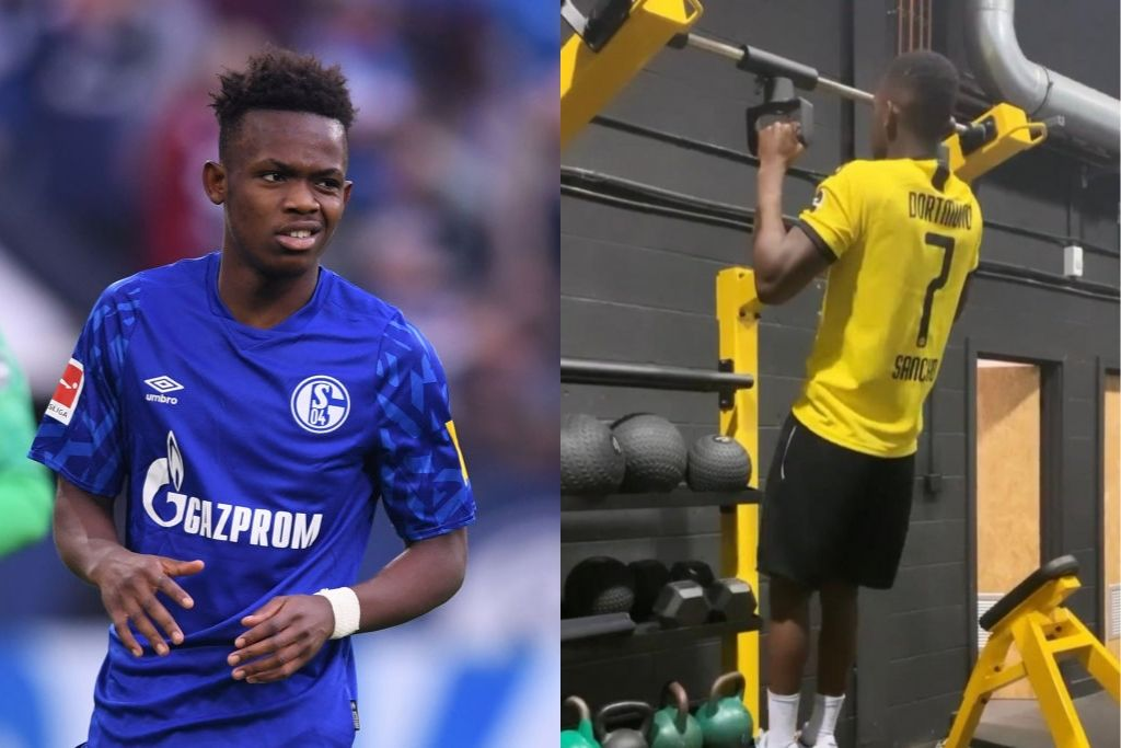 Rabbi Matondo, Schalke, med Dortmund-trøje