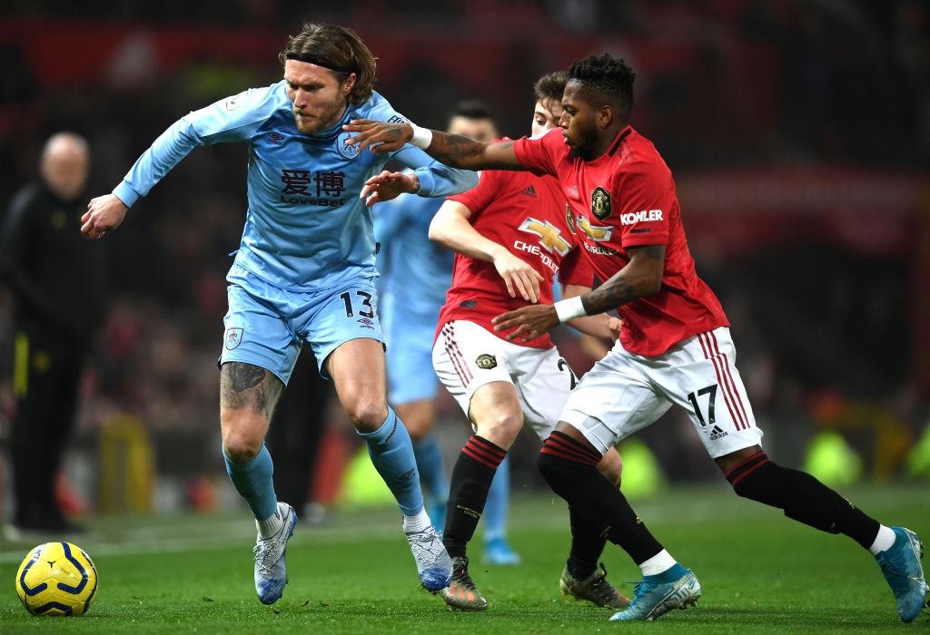 Jeff Hendrick, Burnley mod Manchester United
