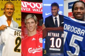 Drogba, Neymar, Beckham, Torres