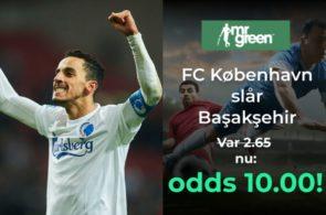 Odds 10.00 på FC København mod Basaksehir i Europa League fra Mr. Green