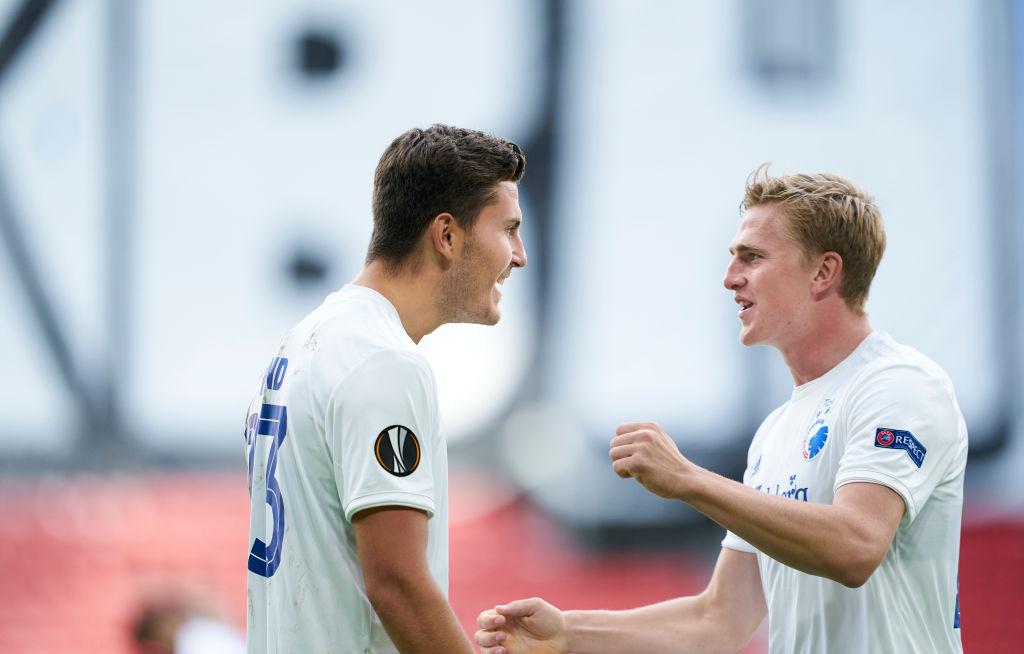 Jonas Wind og Mikkel Kaufmann, FC København