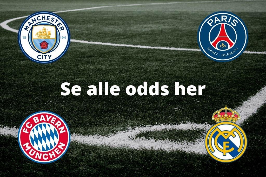 Odds på vinder af Champions League